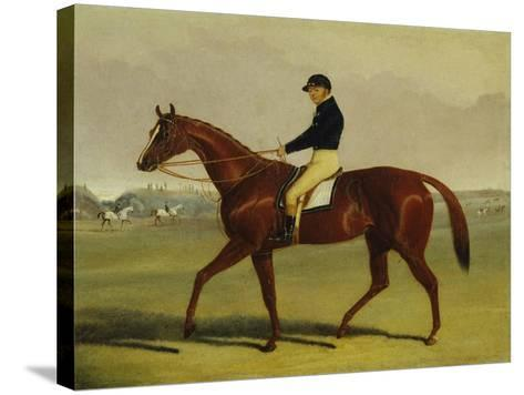 'Preserve' with Flatman Up at Newmarket, 1835-John Frederick Herring Jnr-Stretched Canvas Print