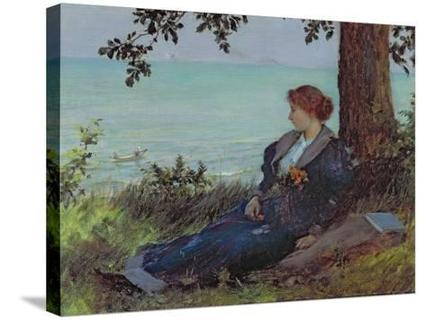 Daydreams-Charles Courtney Curran-Stretched Canvas Print