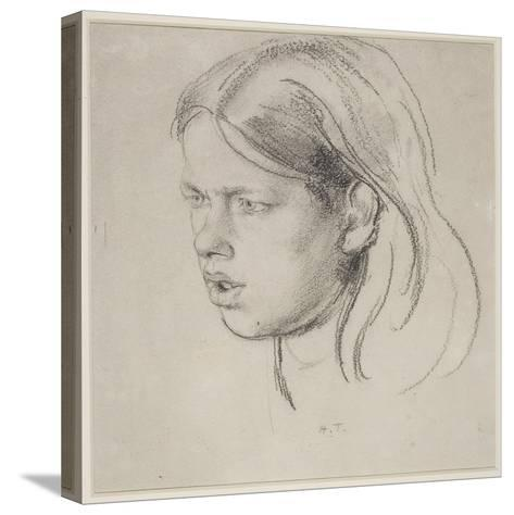 Head of a Girl-Henry Tonks-Stretched Canvas Print