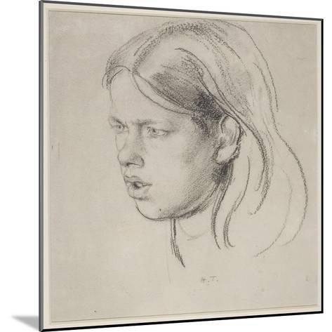Head of a Girl-Henry Tonks-Mounted Giclee Print