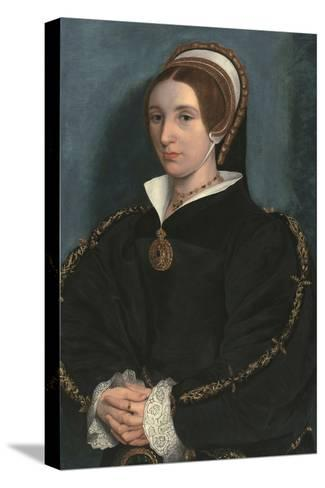Portrait of a Lady, Thought to Be Catherine Howard-Hans Holbein the Younger-Stretched Canvas Print