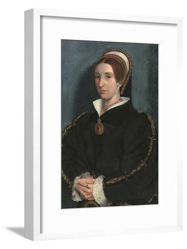 Portrait of a Lady, Thought to Be Catherine Howard-Hans Holbein the Younger-Framed Art Print