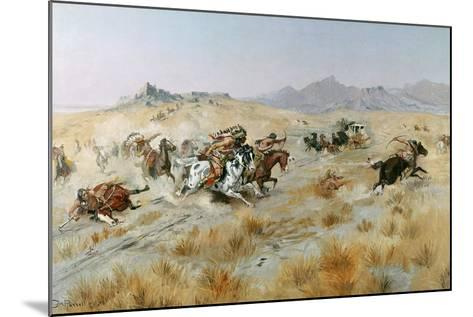 The Attack, 1897-Charles Marion Russell-Mounted Giclee Print