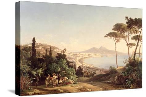 View of Naples, 1837/38-Carl Wilhelm Goetzloff-Stretched Canvas Print