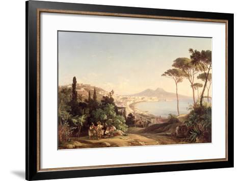 View of Naples, 1837/38-Carl Wilhelm Goetzloff-Framed Art Print