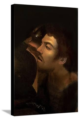 The Taking of Christ (Detail)-Caravaggio-Stretched Canvas Print