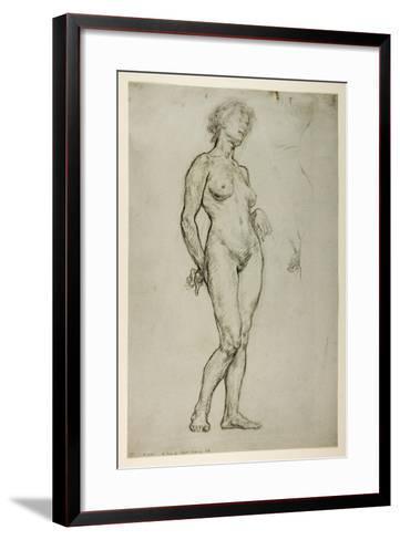 Study of a Female Figure, 1898-Sir William Orpen-Framed Art Print