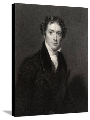 Michael Faraday, Engraved by J. Cochran, from 'National Portrait Gallery, Volume V', Published…-Henry William Pickersgill-Stretched Canvas Print