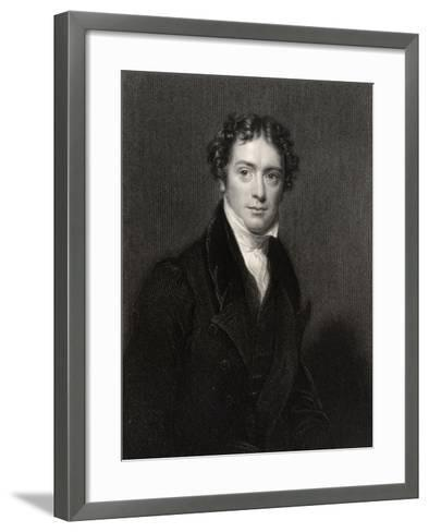 Michael Faraday, Engraved by J. Cochran, from 'National Portrait Gallery, Volume V', Published…-Henry William Pickersgill-Framed Art Print