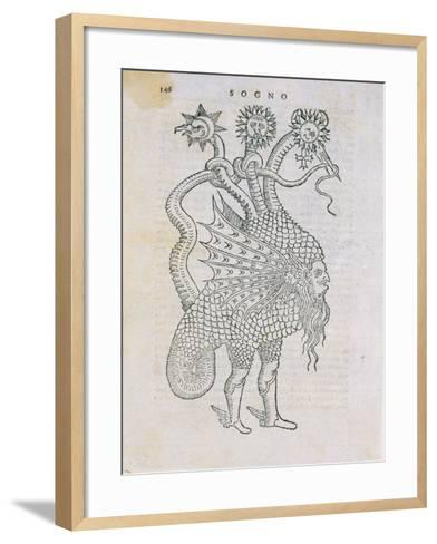 Grotesque, from a Book on Alchemy by G.B. Nazari, 1599--Framed Art Print