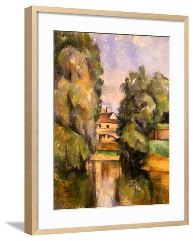 Country House by the Water, C.1888-Paul C?zanne-Framed Art Print