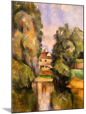 Country House by the Water, C.1888-Paul C?zanne-Mounted Giclee Print