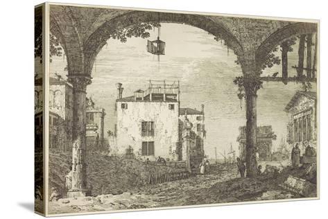 Le Portique a La Lanterne, C.1744-Canaletto-Stretched Canvas Print