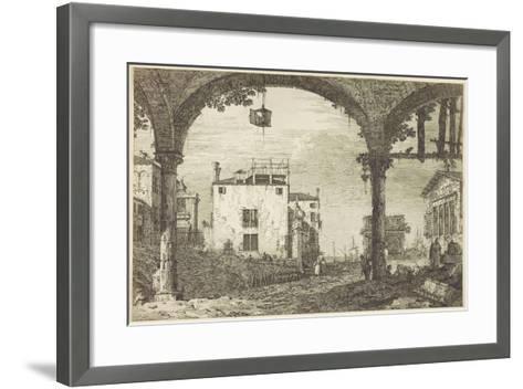 Le Portique a La Lanterne, C.1744-Canaletto-Framed Art Print