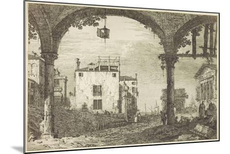Le Portique a La Lanterne, C.1744-Canaletto-Mounted Giclee Print