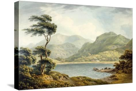 The Upper End of Coniston Lake, Lancashire, 1801-John Warwick Smith-Stretched Canvas Print