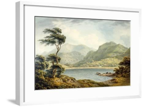 The Upper End of Coniston Lake, Lancashire, 1801-John Warwick Smith-Framed Art Print