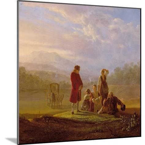 Voltaire Conversing with the Peasants in Ferney-Jean Huber-Mounted Giclee Print