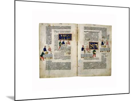 Fol.156V-157 Passover, from 'The Rothschild Miscellany', Northern Italy, C.1450-80--Mounted Giclee Print