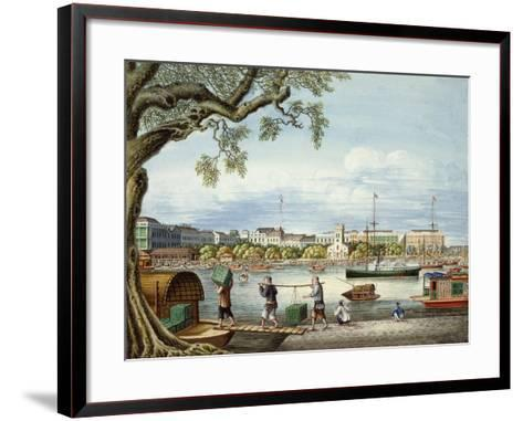 The Hongs of Canton, C.1852- Tinqua-Framed Art Print