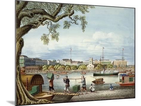 The Hongs of Canton, C.1852- Tinqua-Mounted Giclee Print