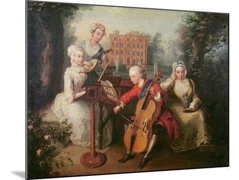 Frederick, Prince of Wales and His Sisters, 1733-Philippe Mercier-Mounted Giclee Print