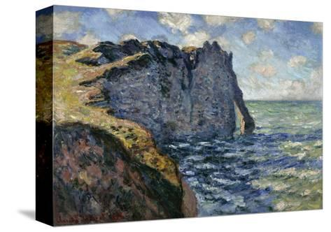 The Cliff of Aval, Etretat, 1885-Claude Monet-Stretched Canvas Print