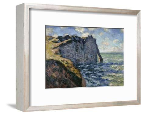 The Cliff of Aval, Etretat, 1885-Claude Monet-Framed Art Print