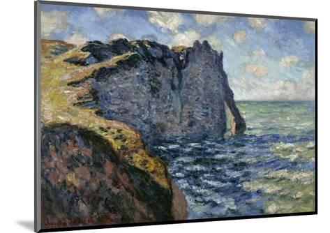 The Cliff of Aval, Etretat, 1885-Claude Monet-Mounted Giclee Print