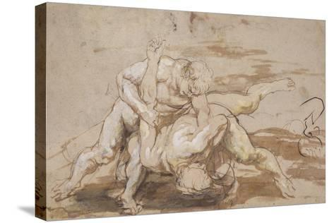 Two Men Wrestling-Peter Paul Rubens-Stretched Canvas Print