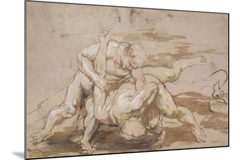 Two Men Wrestling-Peter Paul Rubens-Mounted Giclee Print