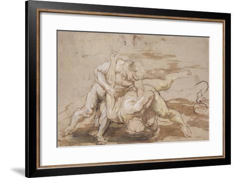 Two Men Wrestling-Peter Paul Rubens-Framed Art Print