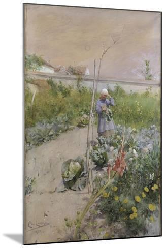 In the Kitchen Garden, 1883-Carl Larsson-Mounted Giclee Print