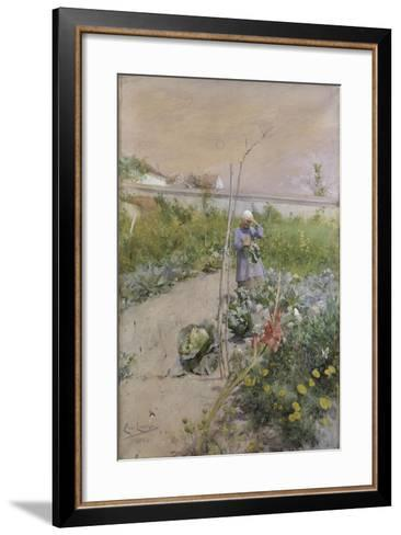 In the Kitchen Garden, 1883-Carl Larsson-Framed Art Print