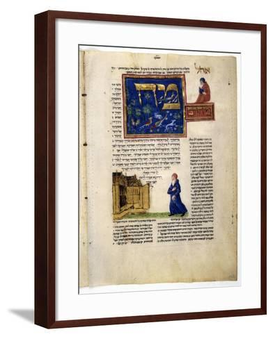 Fol.79V from 'The Rothschild Miscellany', Northern Italy, C.1450-80--Framed Art Print