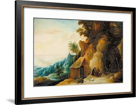 Saints Anthony and Paul in a Landscape, C.1636-38-David Teniers the Younger-Framed Art Print