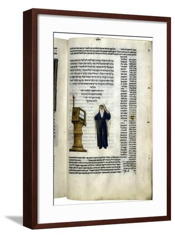 Fol.83V from 'The Rothschild Miscellany', Northern Italy, C.1450-80--Framed Art Print