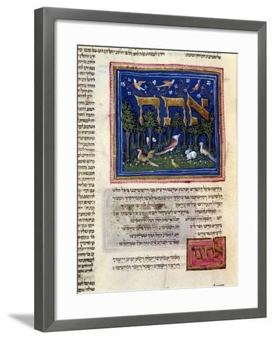 Fol.115V from 'The Rothschild Miscellany', Northern Italy, C.1450-80--Framed Art Print