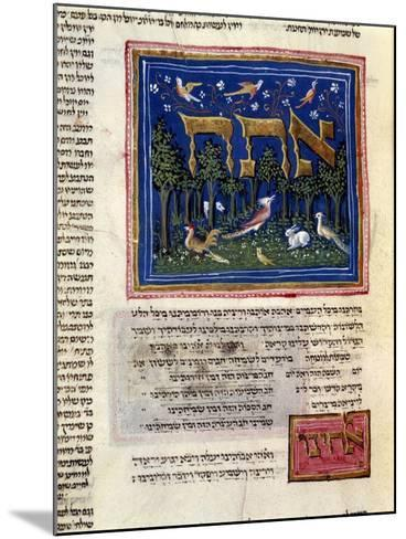 Fol.115V from 'The Rothschild Miscellany', Northern Italy, C.1450-80--Mounted Giclee Print