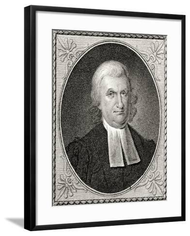 Dr John Witherspoon, Engraved by James Barton Longacre (1794-1869)-Charles Willson Peale-Framed Art Print