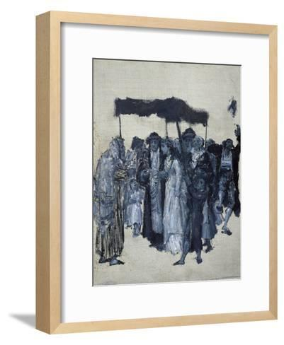 Jewish 'Huppa' (Wedding) 1876-Maurycy Gottlieb-Framed Art Print