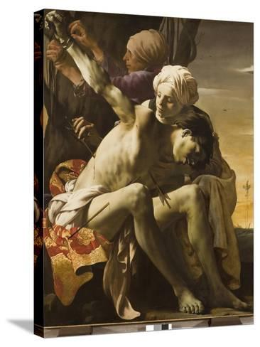 St. Sebastian Tended by Irene, 1625-Hendrick Terbrugghen-Stretched Canvas Print