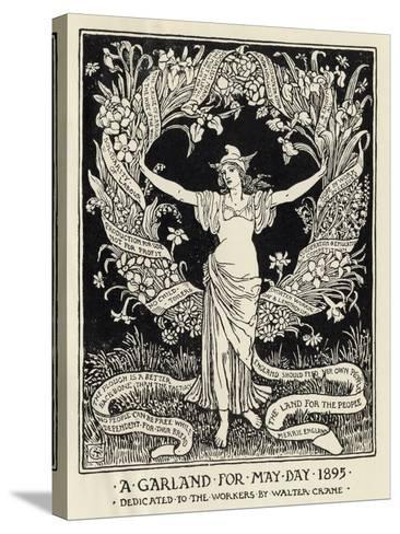 A Garland for May Day, 1895-Walter Crane-Stretched Canvas Print