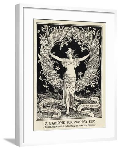 A Garland for May Day, 1895-Walter Crane-Framed Art Print