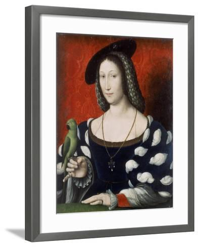 Princess Marguerite of Angouleme, C.1530-Jean Clouet-Framed Art Print