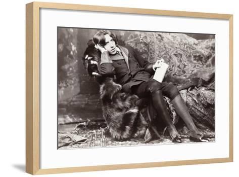Oscar Wilde-Napoleon Sarony-Framed Art Print