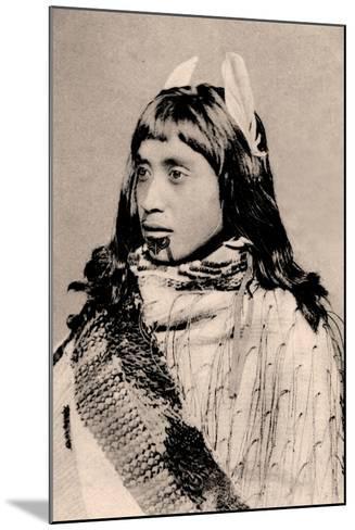 Maori Girl with Moko Chin--Mounted Photographic Print