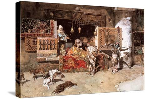 The Tapestry Merchant, 1870-Mariano Fortuny y Marsal-Stretched Canvas Print