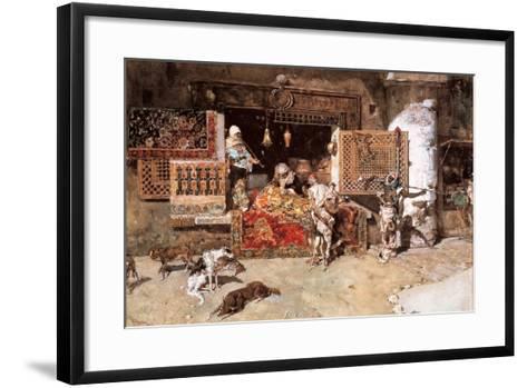 The Tapestry Merchant, 1870-Mariano Fortuny y Marsal-Framed Art Print