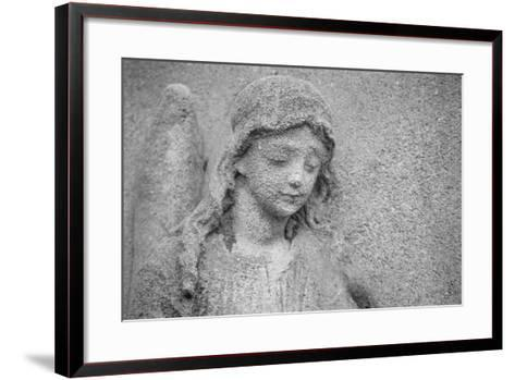 Head of an Angel-French School-Framed Art Print